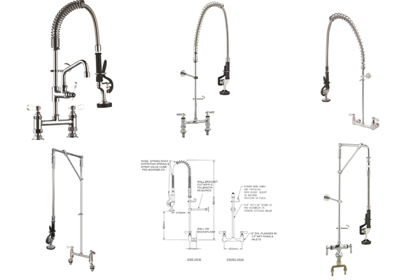 Types of Commercial Kitchen Pre-Rinse Unit