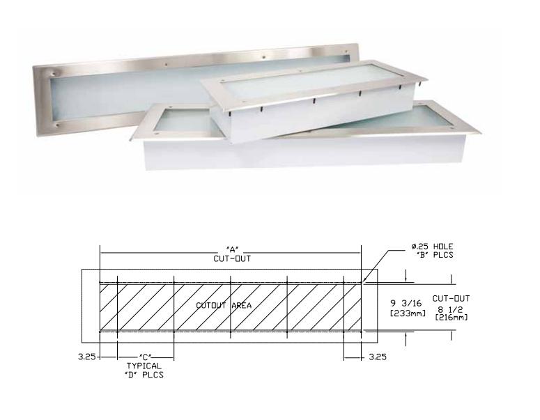 Fluorescent Canopy Hood Light Fixtures