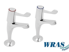 "Chrome Plated Pillar Taps - 3"" & 6"" Levers - WRAS"