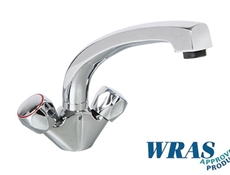 "Monoblock Mixer Tap with 8"" Bi-Flow Swivel Spout - WRAS"