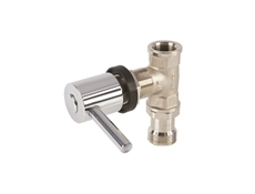 Commercial Utility Spouts & T Valve Assembly - Chrome Plated