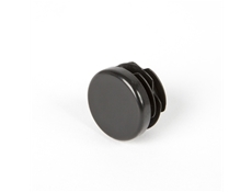 Round End Caps - Black Thermoplastic