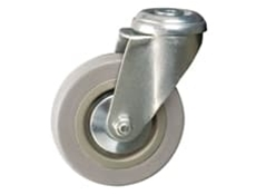 Bolt Hole Fitting - Catering Castors, Grey Wheel
