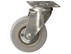 Plate Fitting - Catering Castors, Grey Wheel