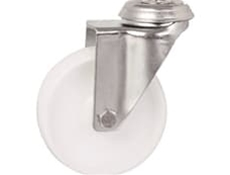 Bolt Hole Fitting - White Polypropylene Wheel