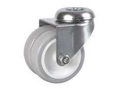 Bolt Hole Fitting - Grey Twin Wheel Castors