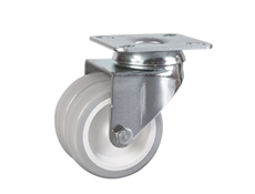 Plate Fitting - Grey Twin Wheel Castors