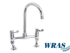 Lever Bridge Sink Mixer Taps -  WRAS Approved