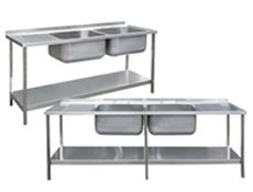 Sink Unit Assemblies - Commercial Stainless Steel Sink Units
