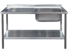 Commercial Sink Unit - 1000 x 600 Single Bowl, Single Drainer