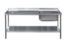 Commercial Sink Unit - 1500 x 650 Single Bowl, Single Drainer