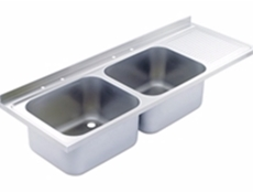 Sink Top - 1500 x 650 double bowl, single drainer