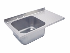 Sink Top - 1500 x 650 single bowl, single drainer