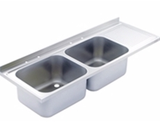 Sink Top - 1800 x 650 double bowl, single drainer