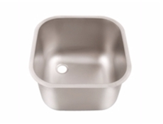 Weld In Sink Bowls - Descaled - Stainless Steel Upstand Strainer & Chrome Waste