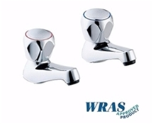 "Chrome Plated Basin Taps with Tricon Heads - 1/2"" - WRAS Approved"