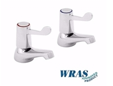 "Chrome Plated Basin Taps with 3"" Levers"