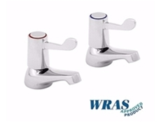 "Chrome Plated Basin Taps with 6"" Levers"