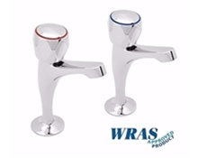"Chrome Plated Pillar Taps with Tricon Heads - 1/2"" - WRAS Approved"