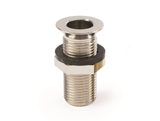 "1/2"" Brass nickel plated drain - 2"" long"