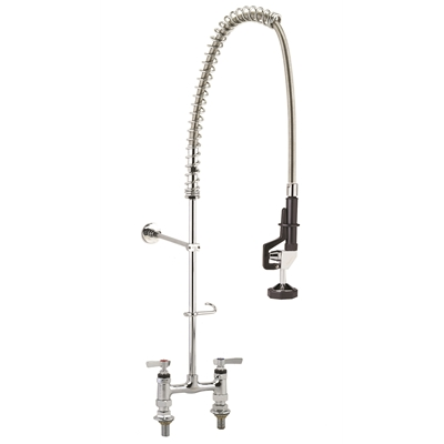 "Pre-Rinse Unit - ENCORE - Spring Type - Deck mounted - 1/2"" NPS inlets - 6"" adjustable centres - Die Pat"