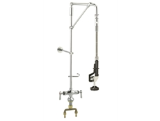 "Pre-Rinse Unit - ENCORE - Deck mounted - Double pantry swivel arm - 1/2"" Male inlets - 4"" centres"