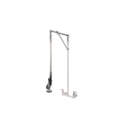 Pre-Rinse Unit - H2O - Straight arm - Double wall mounted - With heavy duty swivel arm support - Die Pat