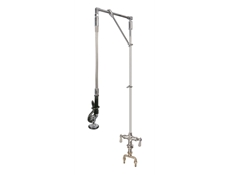 Pre-Rinse Unit - H2O - Straight arm - Monobloc mounted - With heavy duty swivel arm support