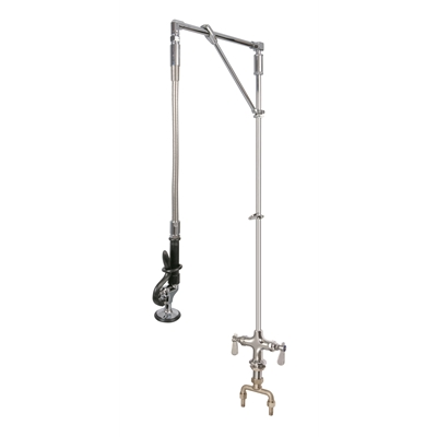 Pre-Rinse Unit - H2O - Straight arm - Monobloc mounted - With heavy duty swivel arm support - Die Pat