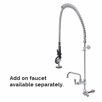 Pre-Rinse Units - H2O - Single wall mounted - With flexible hose - Die Pat