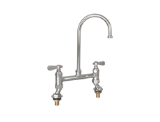 Gooseneck Pantry Tap - Double deck mounted - 8""