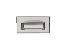Pull - Recessed - Drawer pull - Stainless steel full grip type with frame bevelled edge