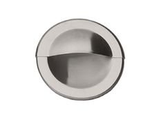 Pull - Recessed - Round pull  - Stainless steel with bevelled edge