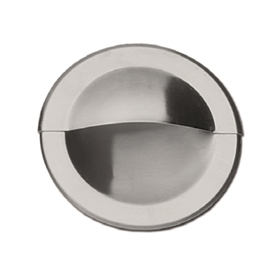 Pull - Recessed - Round pull  - Stainless steel with bevelled edge - Die Pat