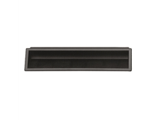 "Pull - Recessed - 7"" Black recessed door pull"