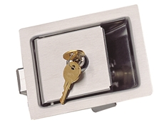 Recessed Paddle Latch - Heavy duty stainless steel - With lock - 124 x 98 mm