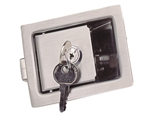 Recessed Paddle Latch - Heavy duty stainless steel - With lock - 84 x 68 mm
