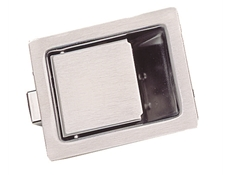 Recessed Paddle Latch - Heavy duty stainless steel - Without lock - 84 x 68 mm