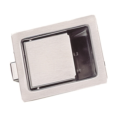 Recessed Paddle Latch - Heavy duty stainless steel - Without lock - 84 x 68 mm - Die Pat