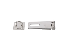 "Pulls & Catches - Stainless steel - Hasp and staple - 2-1/2"" x 1"" x .072 (63mm x 25mm x 2mm)"