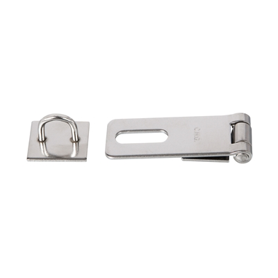 "Pulls & Catches - Stainless steel - Hasp and staple - 2-1/2"" x 1"" x .072 (63mm x 25mm x 2mm) - Die Pat"