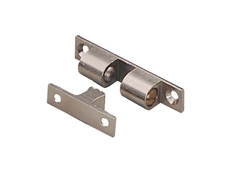 Mechanical Catch - Standard duty - Solid brass satin nickel finish with stainless steel balls and springs - Adjustable spring loaded ball tension