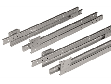Heavy Duty Drawer Slides - S25 Series - Stainless steel - With stainless steel bearings and nylon tyre - 16""