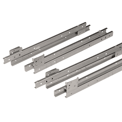 "Heavy Duty Drawer Slides - S25 Series - Stainless steel - With stainless steel bearings and nylon tyre - 20"" - Die Pat"