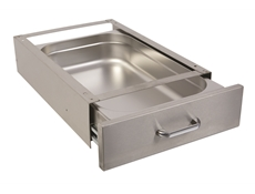 Under Table Drawer - 1/1 150mm deep stainless steel - 165 x 390 x 530 mm - P501010 pull