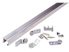 "Front Door Sheave - Zinc plated steel -  3/4"" Side mounted door hanger - Flat steel plated ball bearing"