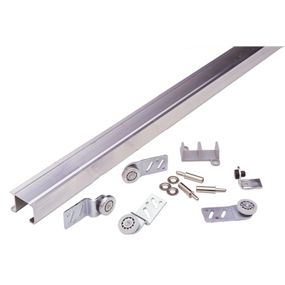 "Front Door Sheave - Zinc plated steel - 3/4"" Side mounted door hanger - Flat polymide surface steel inner race ball bearing - Die Pat"