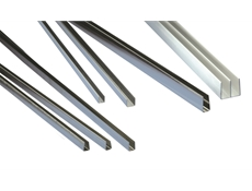 Glass Capping - Stainless Steel 400 - 8mm high - 6mm opening