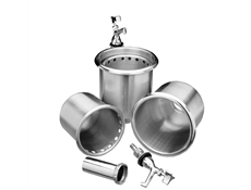 Stainless Steel Dipperwell Assembly - Without faucet
