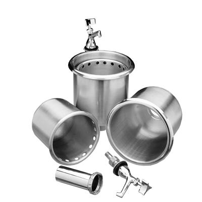 Stainless Steel Dipperwell Assembly - Faucet only - Die Pat